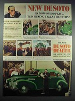1938 DeSoto Cars Ad - Ted Husing