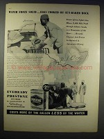 1938 Eveready Prestone Anti-Freeze Ad - Froze Solid