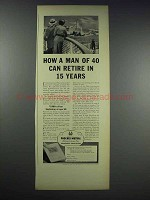 1938 Phoenix Mutual Ad - Retire in 15 Years