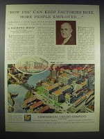 1938 Commercial Credit Company Ad - Raymond Moley