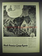1938 Insurance Company of North America Ad - Windstorm