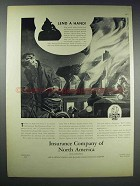1938 Insurance Company of North America Ad - Lend Hand