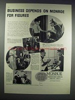 1938 Monroe Calculating Machine Ad - Business Depends