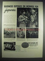 1938 Monroe Model MA-6 Adding-Calculator Ad - Figures