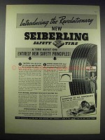 1938 Seiberling Safety Tire Ad - Revolutionary