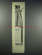 1938 Webster Cigars Ad - Are Slenderizing