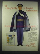 1938 Chesterfield Cigarettes Ad - Order of the Day