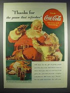 1938 Coca-Cola Soda Ad - Santa - Pause That Refreshes