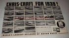 1938 Chris-Craft Boat Ad - Full Line of Boats for 1939