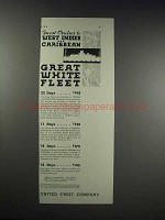 1932 United Fruit Company Great White Fleet Ad