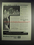 1932 Hamburg-American Line Ad - First Prize