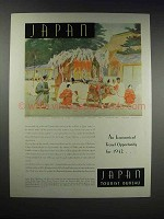 1932 Japan Tourist Bureau Ad - Economical Opportunity