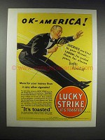 1932 Lucky Strike Cigarettes Ad - Walter Winchell