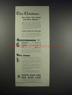 1931 White Star Line Red Star Line Cruise Ad