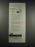 1931 Canada Steamship Lines Cruise Ad - Good-Bye