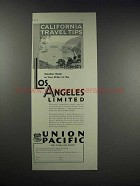 1931 Union Pacific Ad - Weather Made to Your Order