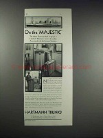 1931 Hartmann Trunks Ad - On the Majestic