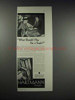 1931 Hartmann Trunks Ad - What Should I Pay For