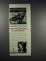 1931 Hartmann Trunks Ad - You Can't Compare Any Other