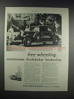 1931 Studebaker President Eight State Victoria Car Ad