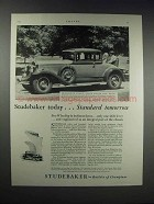 1931 Studebaker President Eight State Coupe Car Ad