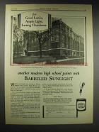 1929 Barreled Sunlight Paint Ad - Central High School