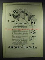 1929 Sturtevant Unit Heater-Ventilator Ad - Outside