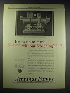 1929 Jennings Vacuum Heating Pump Ad - Without Coaching