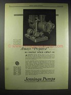 1929 Jennings Vacuum Heating Pump Ad - Always Prepared