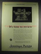1929 Jennings Vacuum Heating Pump Ad - Time to Review