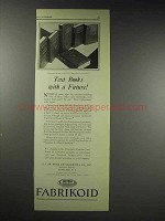 1929 Du Pont Fabrikoid Textbook Material Ad