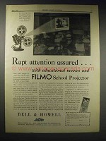 1929 Bell & Howell Filmo 57-E School Projector Ad