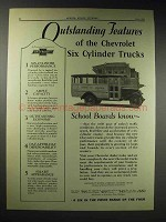 1929 Chevrolet School Buses Ad - Outstanding Features