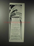 1929 Thos. Cook & Son Ad - Europe Spring Offers