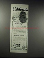 1926 Southern Pacific Lines Ad - Sunshine All the Way