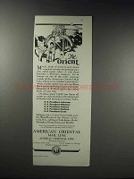 1926 American Oriental Mail Line Ad - The Orient