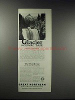 1925 Great Northern Railroad Ad - Glacier National Park