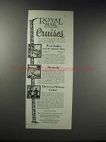 1925 Royal Mail Steam Packet Co. Ad - Cruises