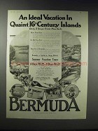 1920 Furness Bermuda Line Ad - An Ideal Vacation