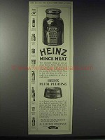 1914 Heinz Mince Meat and Plum Pudding Ad