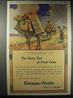 1914 Grape-Nuts Cereal Ad - Stern Test of Food Value