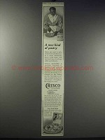 1913 Crisco Shortening Ad - A New Kind of Pastry