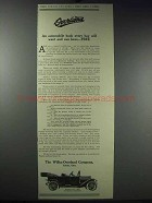 1913 Willys-Overland Model 69-T Car Ad