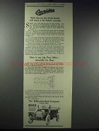1913 Willys-Overland Cars Ad - Family Enjoy Vacation