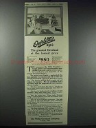 1914 Willys-Overland Cars Ad - The Greatest