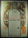1913 3-in-One Oil Ad - Help for All Boys