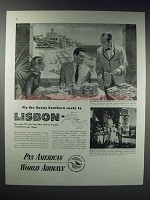 1948 Pan American World Airways Ad - Route to Lisbon