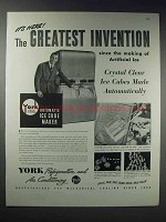 1948 York Automatic Ice Cube Maker Ad - The Invention