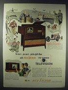 1948 RCA Victor 8TV321 Harrison & 8T241 Bystander TV Ad