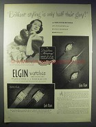 1948 Lady & Lord Elgin Watch Ad - Rosalind Russell